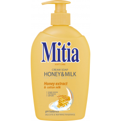 Mitia Honey & Milk tekuté mýdlo, 500 ml
