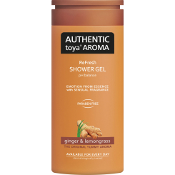 Authentic Toya Aroma Ginger & Lemongrass sprchový gel, 400 ml