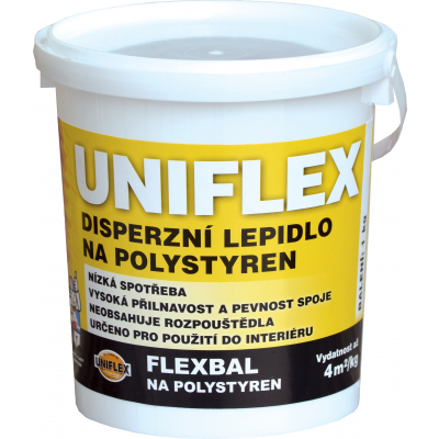 Uniflex Flexbal V7510L disperzní lepidlo na polystyren, 1 kg