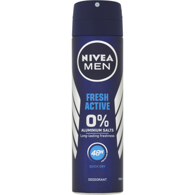 Nivea Men Fresh Active antiperspirant bez hliníku, 150 ml