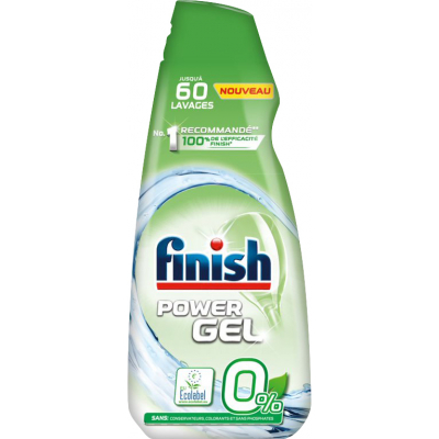 Finish Power Gel 0 % gel do myčky nádobí, 900 ml