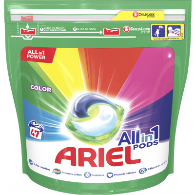 Ariel Color All in 1 kapsle na praní, 47 praní