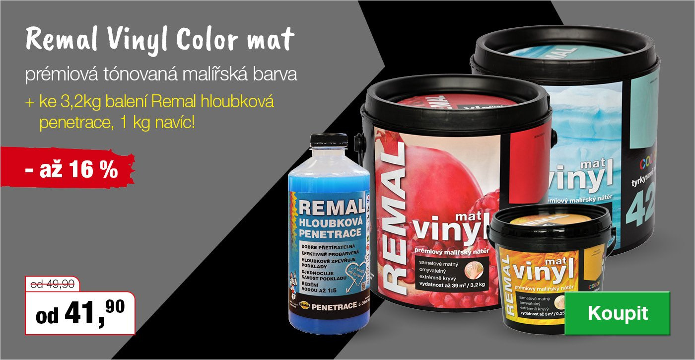 K Remal Vinyl Color mat penetrace ZDARMA